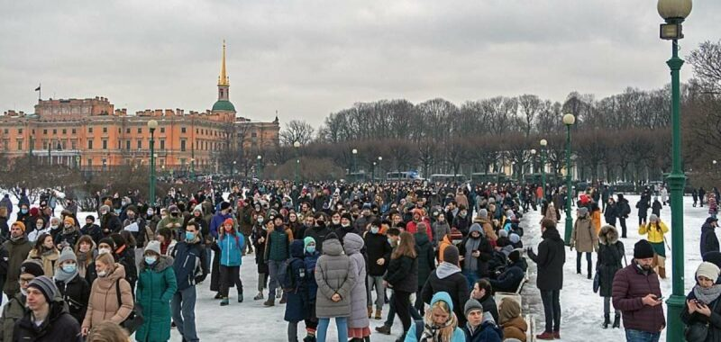 Protests Against The Arrest Of Opposition Politician Alexei Navalny Saint Petersburg 23 January 2021